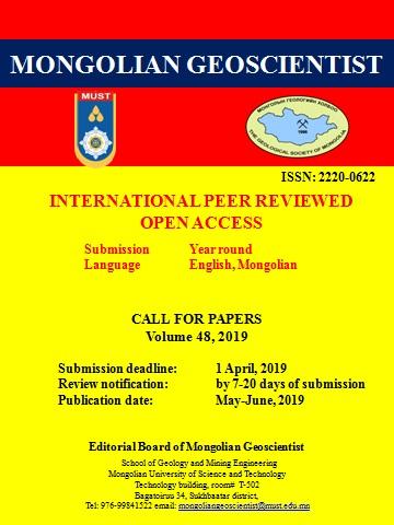 Mongolian Geoscientist 2019