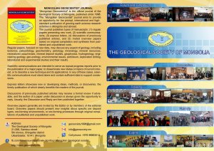 MONGOLIAN GEOSCIENTIST JOURNAL
